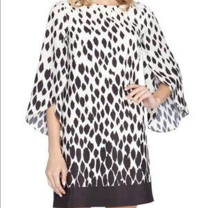 Tahari NWT Print Crepe de Chine Shift Dress